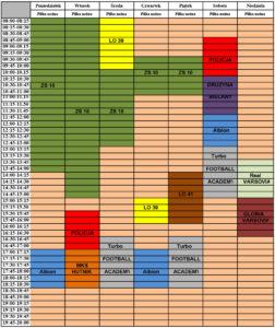 grafik boiska syrenka od 25 marca 2019