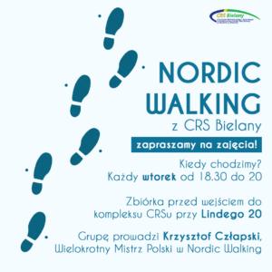 Zajęcia Nordic Walking w CRS Bielany