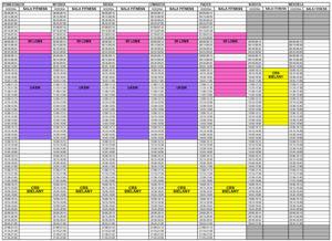 Grafik zajęć fitness od 1 stycznia 2020