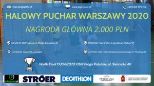 Plakat Halowy Puchar Warszawy 2020