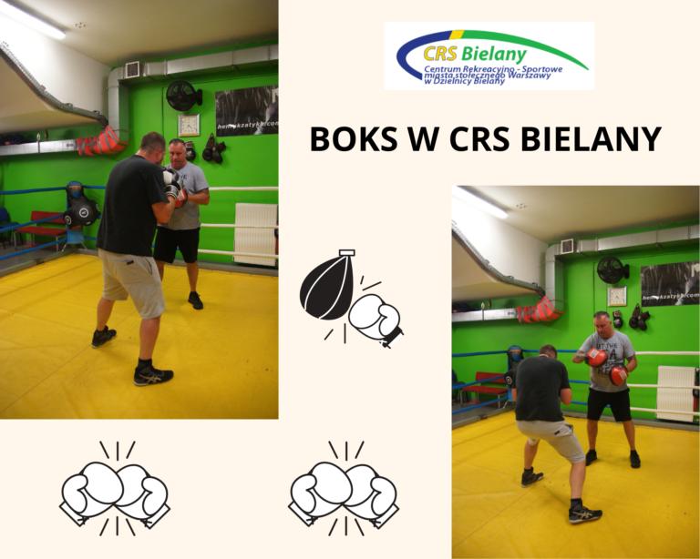 Grafika z dwoma zdjęciami dwóch bokserów na salce boksu.