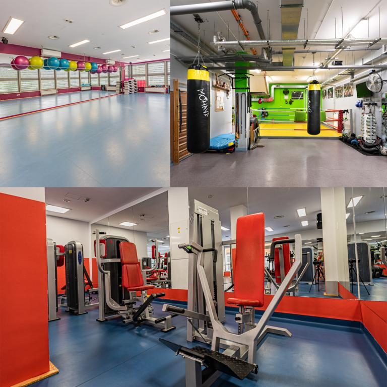 salka fitness, salka boksu i siłownia